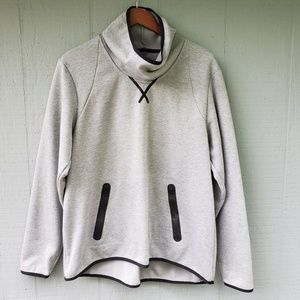 Champion Victory Fleece Grey Funnel Neck Sweater